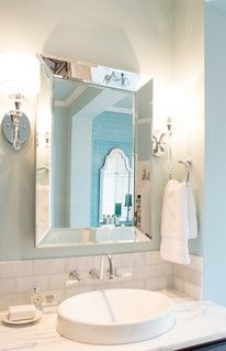 Lord Design Created This Airy Bathroom With The Help Of Our Reflection Wall  Mirror.