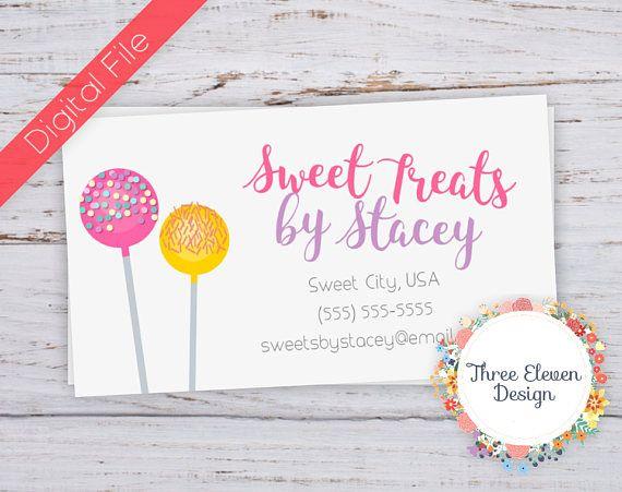 Cake Pop Printable Business Card