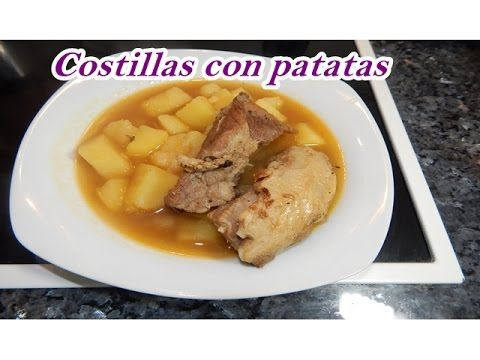 COMO HACER GUISO DE COSTILLAS DE CERDO CON PATATAS./Cocina tradicional