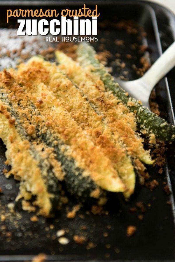 Super Easy Parmesan Crusted Zucchini