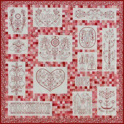 """Scandinavian Rose"" designed by Rosalie Dekkar for Rosalie Dekkar Designs."