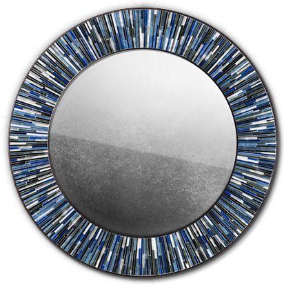 Roulette Mirror Navy Blue © Piaggi