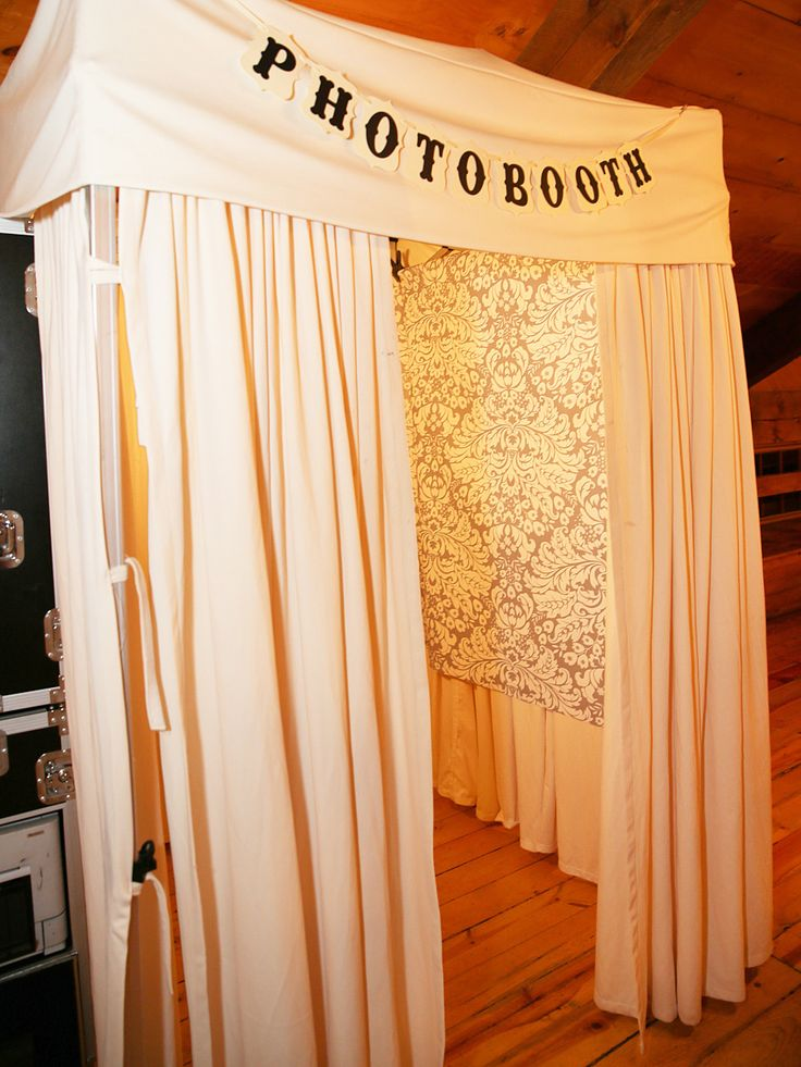 DIY curtain photo booth idea for a wedding reception