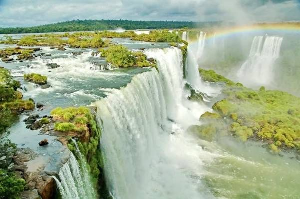 amerika,americké,krásné,modrá,rozostření,hranice,brazílie,na sebe,katarakta,vodopády,mraky,cíl,prostředí,vodopády,slavný