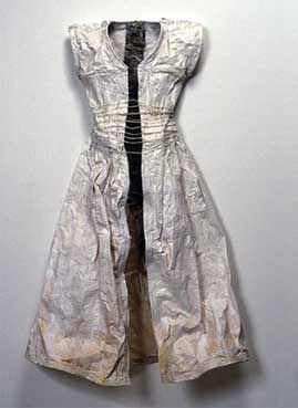 Paper Dress Art exploring concepts of identity, memory, death & loss by Tori Ellison