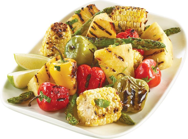 Summer Grilling Wonder - Fruits & Veggies Marinated in Extra Virgin Olive Oil, Lime Juice & Cilantro from #YummyMarket