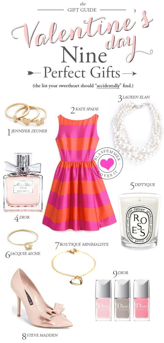 Valentine's Day Gift Guide, Best gift ideas for valentine's day for her: perfume is always welcome, as are shoes, accessories, I love candles, I hate that dress.