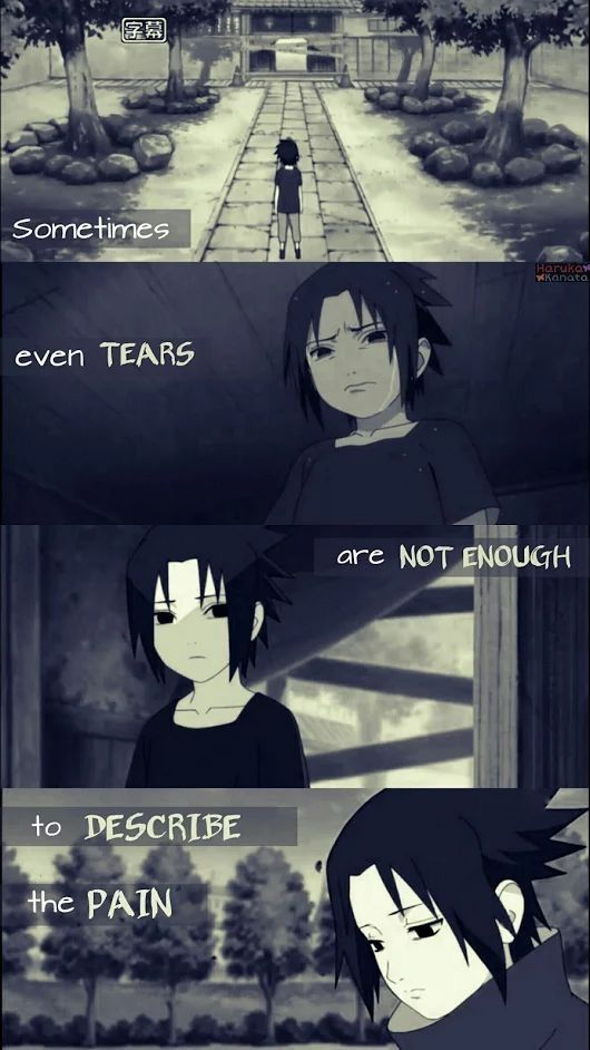 Quelques fois, même les larmes ne sont pas assez pour décrire la douleur