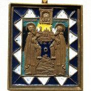 Икона «Преподобные Зосима и Савватий Соловецкие».R-7. Эмаль - Форум
