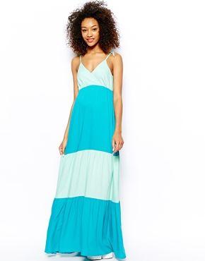 Color Block Maxi Dress: Moda Color, Maxi Dresses, Blocks Maxi, Color Blocks