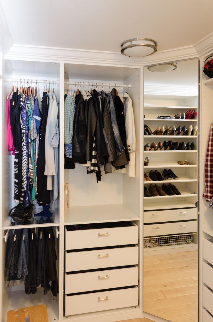 IKEA PAX Closet with crown molding, corner wardrobe with ...