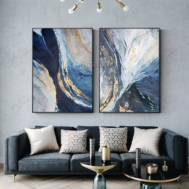 3 Piece Wall Art, Framed Wall Art, Wall Canvas, Abstract Canvas Art, Acrylic Painting Canvas, Blue Painting, Painting Inspiration, Printable Wall Art, Modern Art