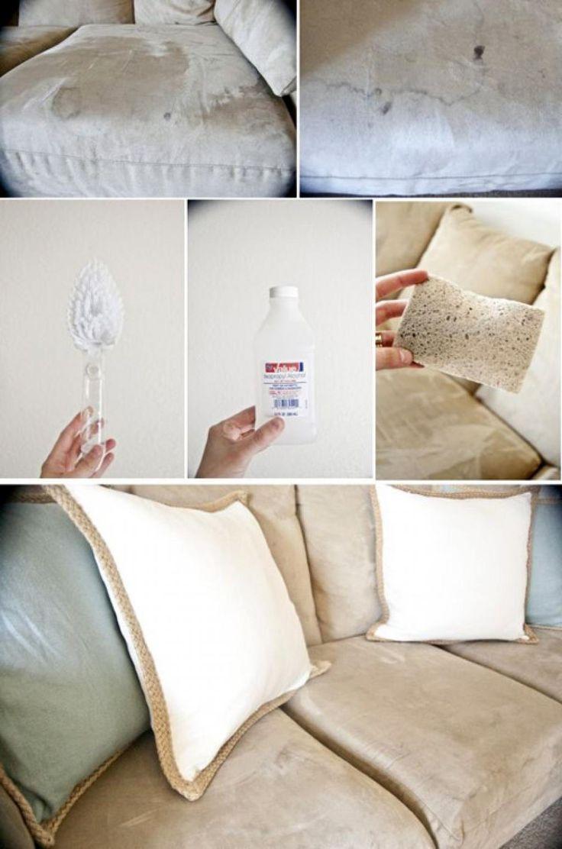 Comment faire disparaître les vilaines taches sur un canapé en tissu! - Trucs et Astuces - Trucs et Bricolages
