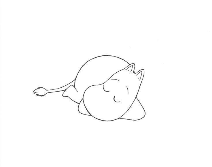 """sniffinmoominland: """"Sleeping moomin ♥ """""""