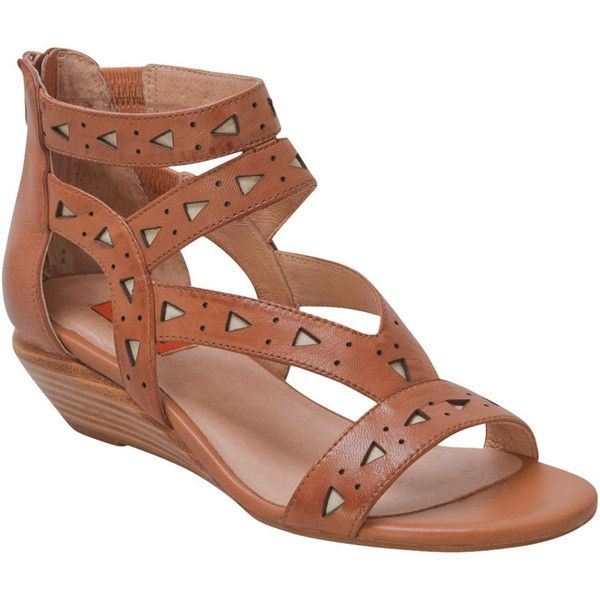 Miz Mooz Women's Pomona Wedge Sandal ($55) ❤ liked on Polyvore featuring shoes, sandals, tobacco, tribal shoes, wedge sandals, miz mooz sandals, tribal sandals and low heel shoes