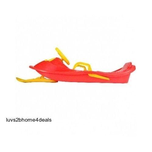 snow racer sled flyer toboggan saucer tube board kids boy. Black Bedroom Furniture Sets. Home Design Ideas