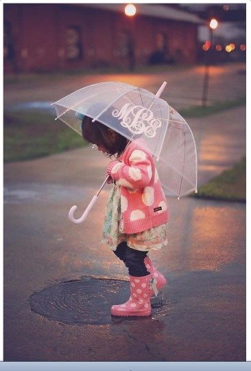 Personalized Monogrammed Kids Clear Dome Umbrella SUPER CUTE!! :) Great deal on these while they last!