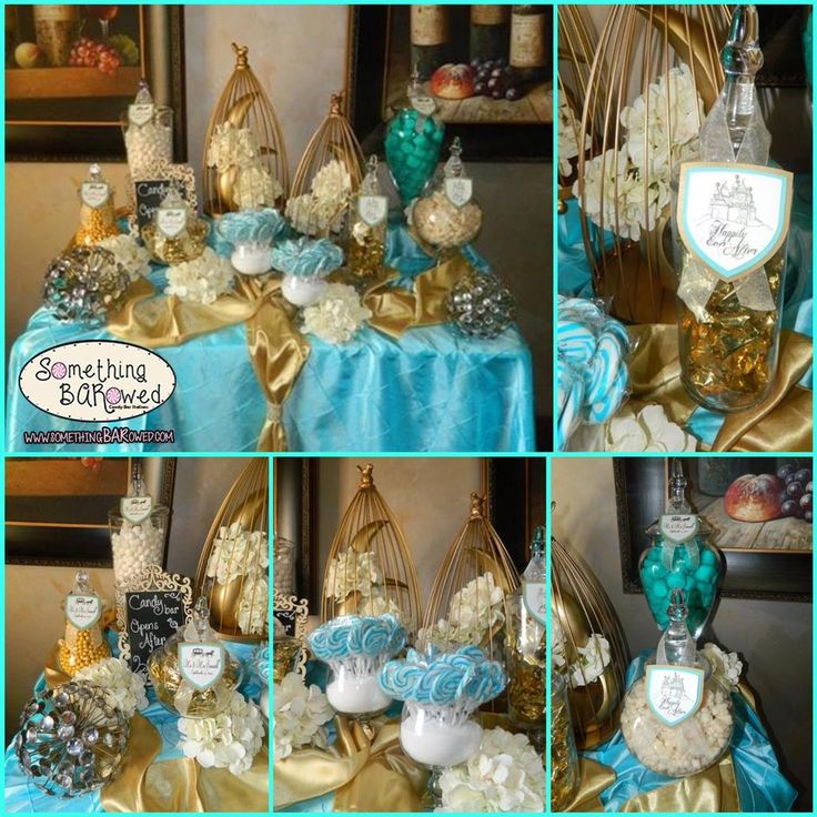 Turquoise gold wedding candy bar who doesn 39 t love a for Turquoise gold wedding theme