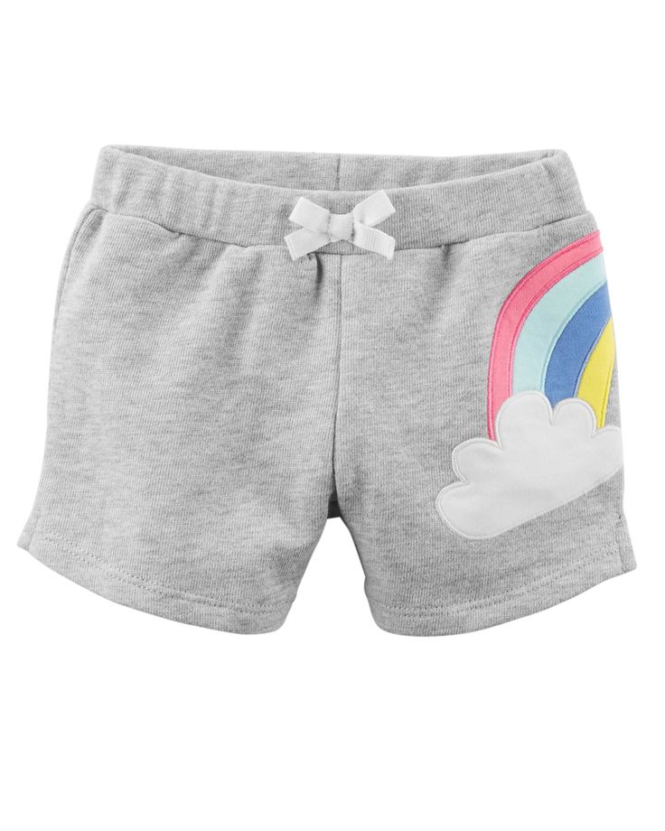 Baby Girl Rainbow French Terry Shorts | Carters.com