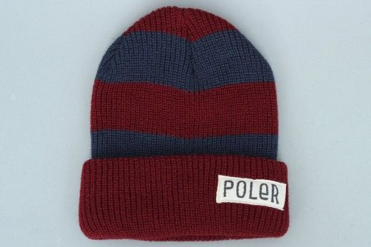 Poler Stuff Worker Man Stripe Beanie Red / Blue
