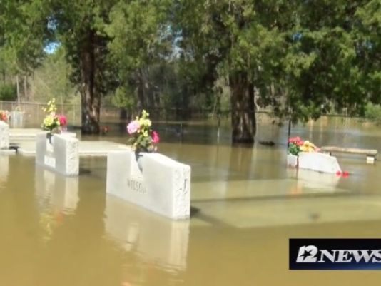 03/15/2016 - Record flooding in Louisiana is causing caskets to float to the surface in several cemeteries in southwestern parts of the state, according to local TV station KBMT.