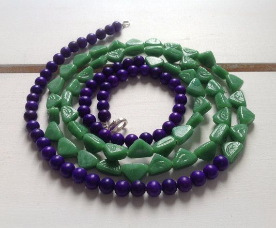 In love with Indigo necklace in green and by CustardFox on Etsy