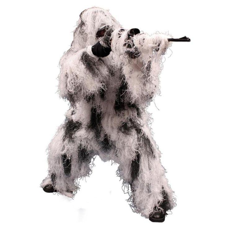 Tactical Suit Ghillie Gear For Men Woodland