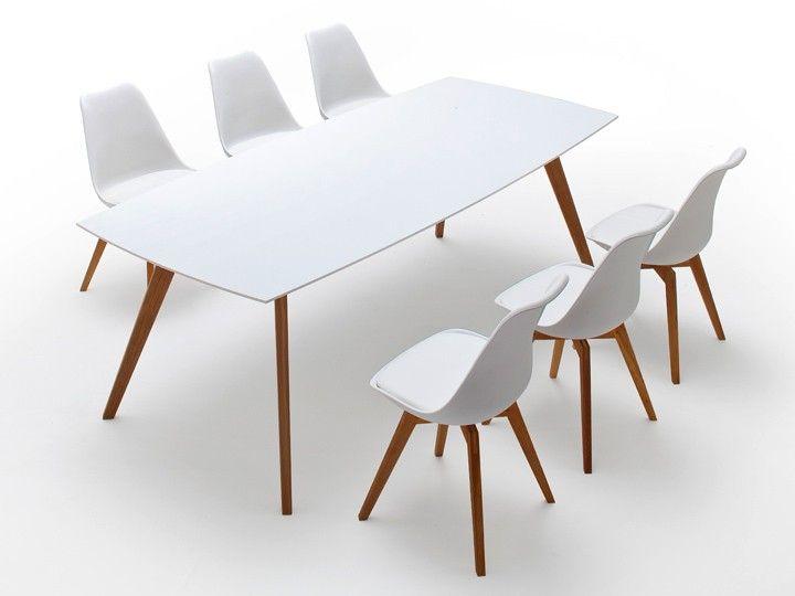Bess Tisch weiss, eiche #tisch #esstisch #weiss #eiche #skandinavisch #nordisch #design