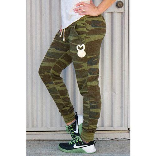 Women Joggers Sweatpants - Camo