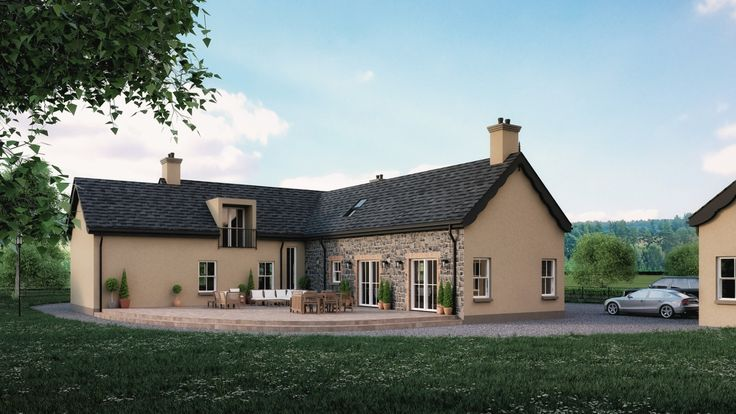 traditional cottage outside Dunloy Ballymena by slemish design studio architects. dwelling on a farm residential specialists throughout NI & RoI & UK