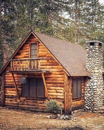 The pattern between the wood and stone chimney I think is odd but a cool concept