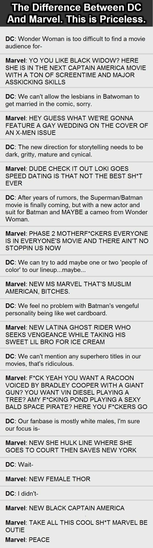 Marvel gives us what we want. Take notes, DC