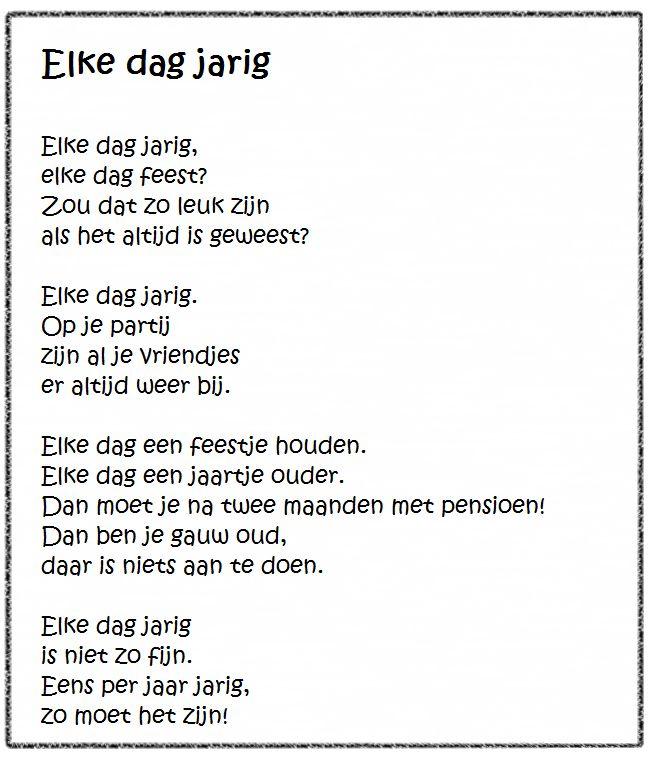 """Versje """"Elke dag jarig"""" *liestr*"""