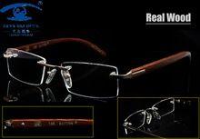 Sky & SEA optique naturellement bois montures de lunettes hommes Prescription montures de lunettes sans monture hommes Designer lunettes en bois(China (Mainland))