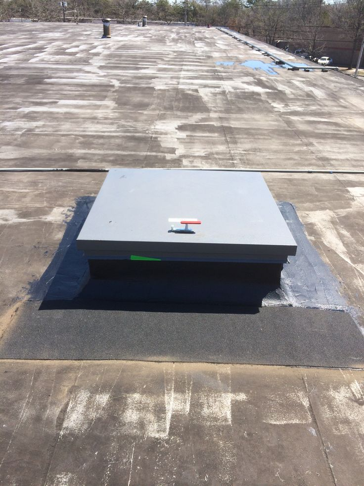 Installation Of New Roof Hatch Thru Roof In Islandia Long Island New York.  #commercialroofrepair