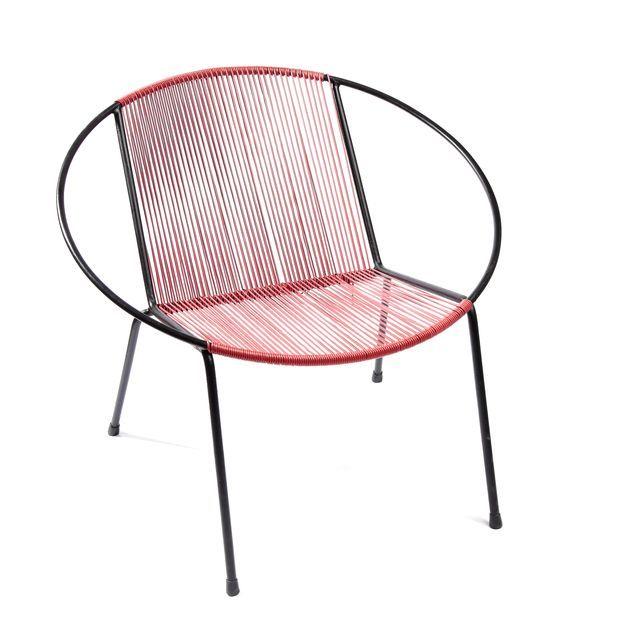 Polska, lata 1950/60-te Fotel wyplatany metal, igielit, 63,5 x 69 x 42 cm, wys. siedziska: 33 cm, cena wywoławcza: 300 zł