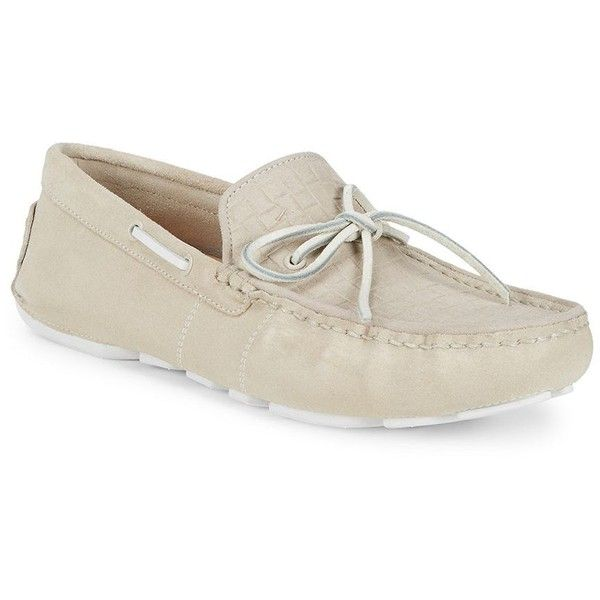 UGG Everton Embossed Riveria Loafers ($90) ❤ liked on Polyvore featuring men's fashion, men's shoes, men's loafers, mens slip on loafers, mens loafers, mens suede dress shoes, mens slip on dress shoes and mens driving shoes