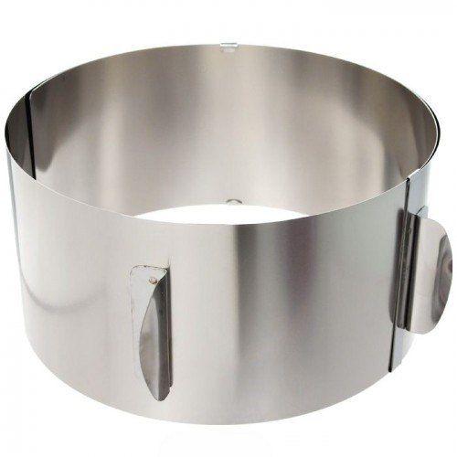 https://ulber.ru/domsemya/semejnaja-kuhnja/razdvizhnoe-kolco-dlja-tortov  Что такое раздвижное кольцо для торта  Раздвижное кольцо для торта – кольцо раздвижное для тортов, размер можно изменять от 16 до 30см. Удобно для приготовления многослойных тортов, заливки желе и суфле. А также для приготовления многослойных салатов и гарниров.  Преимущества раздвижного кольца для торта  Функциональное, удобное и практичное  Высокостойкое антипригарное покрытие  Позволяет готовить без масла  Не…