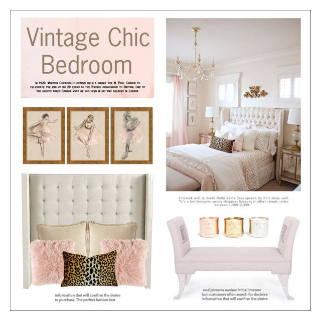 """Vintage Chic Bedroom"" by lgb321 ❤ liked on Polyvore featuring interior, interiors, interior design, home, home decor, interior decorating, Ballard Designs, Baxton Studio, Pier 1 Imports and Pottery Barn"