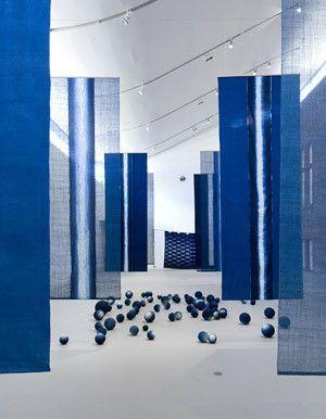 Hiroyuki Shindo: aizome installation