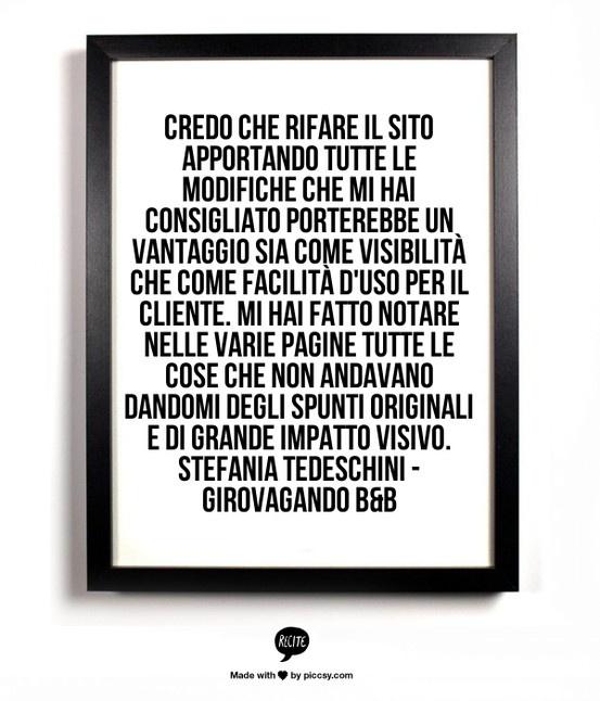 Testimonial per consulenza privata: http://www.siamoalcompleto.it/consulenza-bed-breakfast/