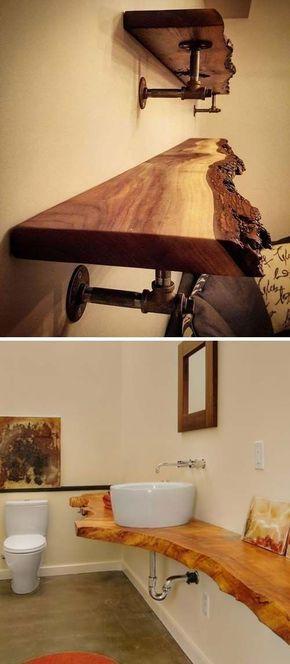 top 20 coole dekorationsideen mit live edge wood coole dekorationsideen