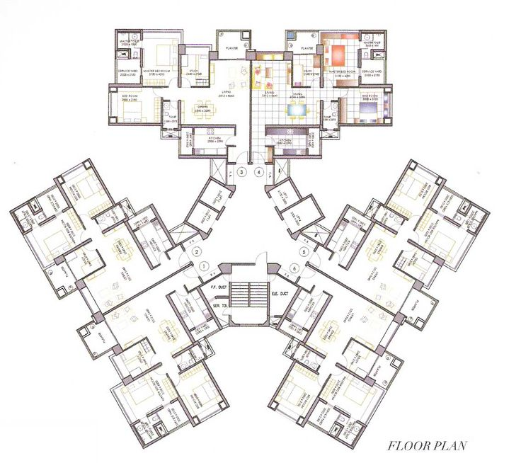 high rise residential floor plan - Google Search