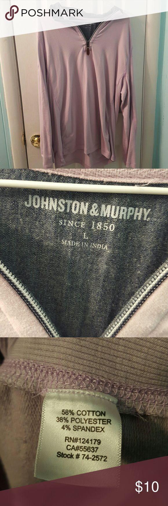 Johnston & Murphy mens lavender sweatshirt Good pre-owned condition Johnston & Murphy Shirts Sweatshirts & Hoodies