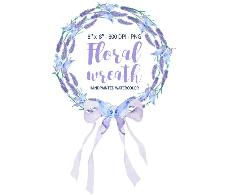 lavender wreath watercolor wreath  lavender clipart floral lavender clipart black lavender clipart black and white