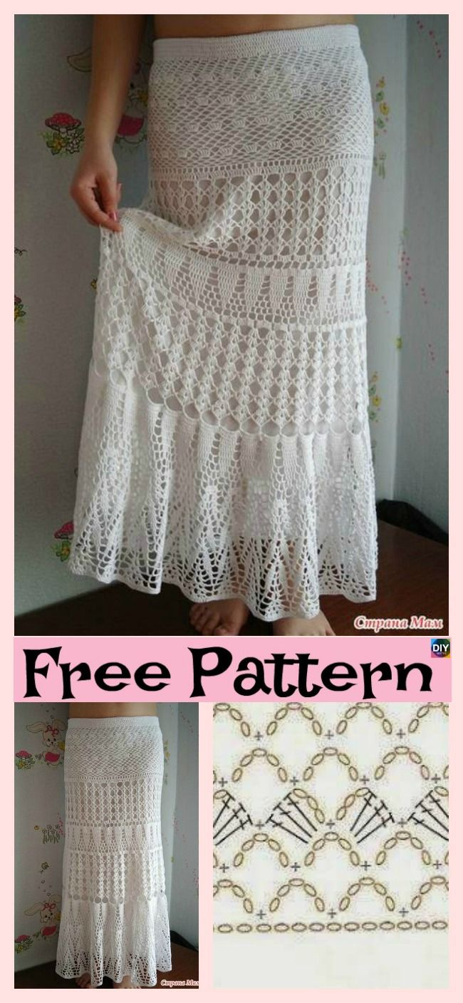 8 Beautiful Crochet Summer Skirt Free Patterns