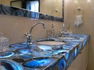 Blue Agate Semiprecious Stone Vanity Top From United The Details Include  Pictures,Sizes,Color,Material And Origin. You Can Contact The Supplier    Schwaben ...