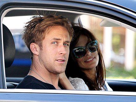 Ryan Gosling & Eva Mendes's Drive-By Kiss | Eva Mendes, Ryan Gosling
