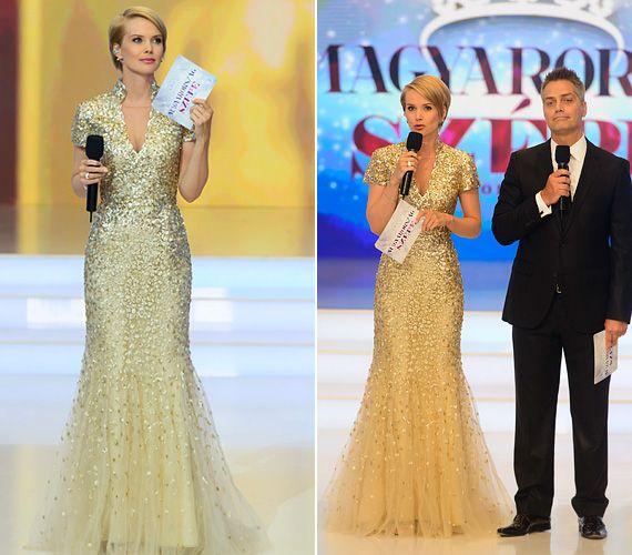 A szépségkirálynő-jelölteket is túlragyogta! Nézd meg, miben állt színpadra Osvárt Andrea | femina.hu