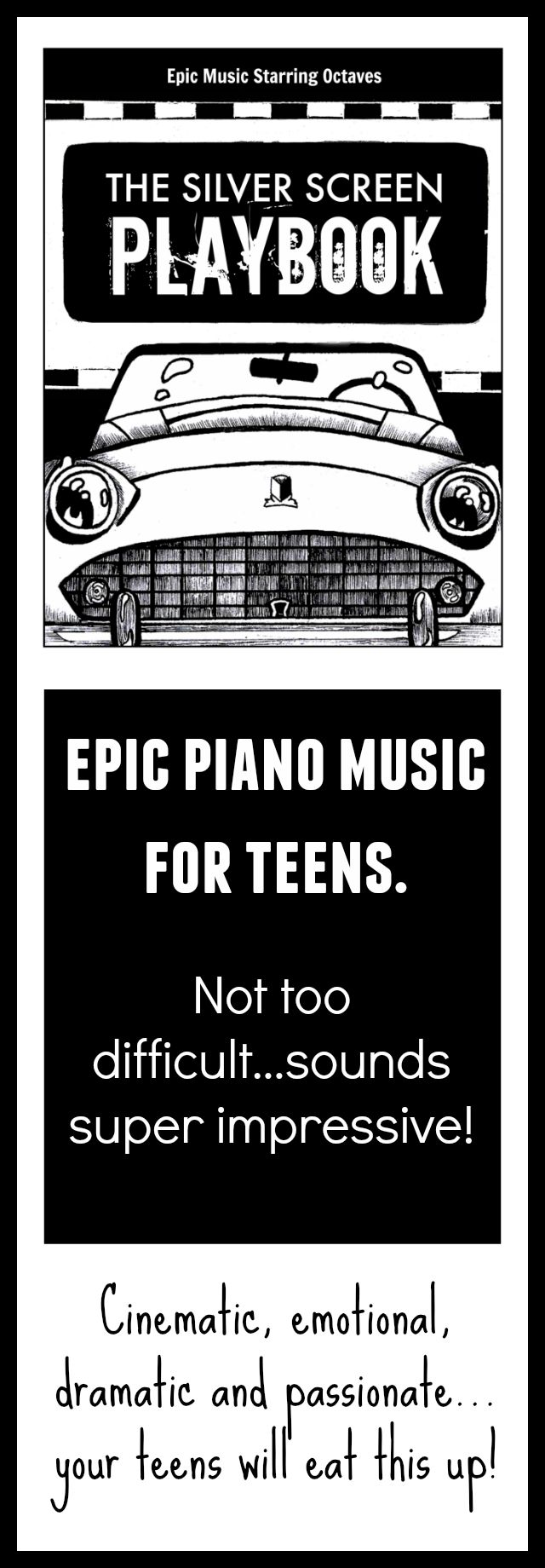 If you're looking for THE repertoire that will motivate your teens, this book is it! Getting rave reviews from teens and teachers alike, this reproducible book is packed with dramatic, powerful pieces that are not too complicated for intermediate players. Grab it for $8 if you become a www.pianobookclub.com member before June 26th see a video trailer at this link #CertifiedCool #PianoSheetMusic #YoullBeAHero